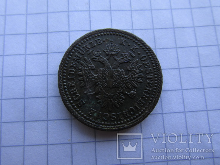 1 крейцер 1851 А, фото №3