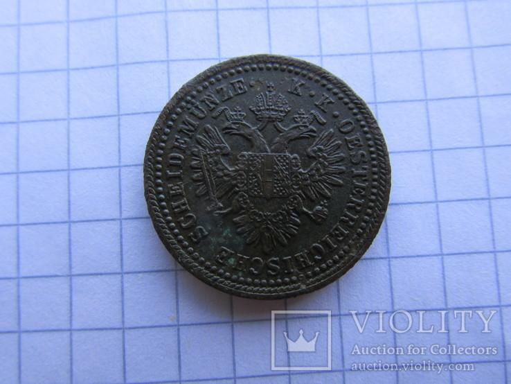 1 крейцер 1851 А, фото №6