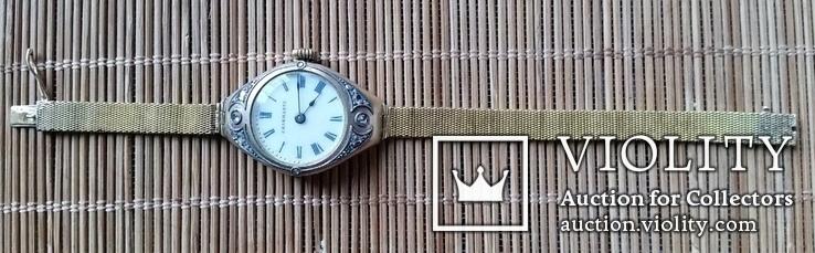 Годинник з браслетом, золото 56 проби, алмази, фото №2