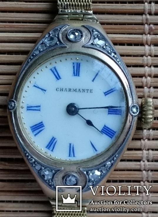 Годинник з браслетом, золото 56 проби, алмази, фото №3