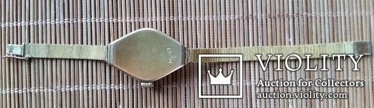Годинник з браслетом, золото 56 проби, алмази, фото №6