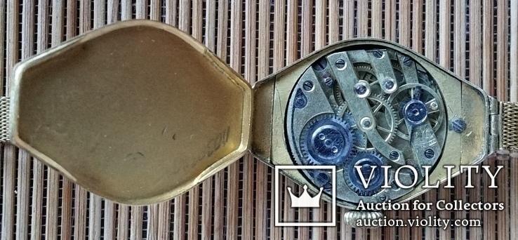 Годинник з браслетом, золото 56 проби, алмази, фото №10
