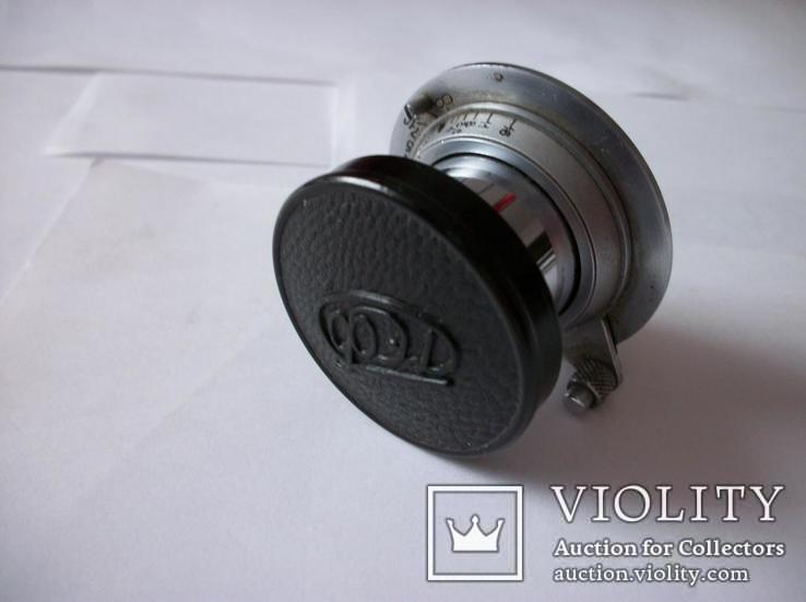 Объектив фэд 1:3,5  f=50mm, крышка передняя оригинальная и футляр, фото №3