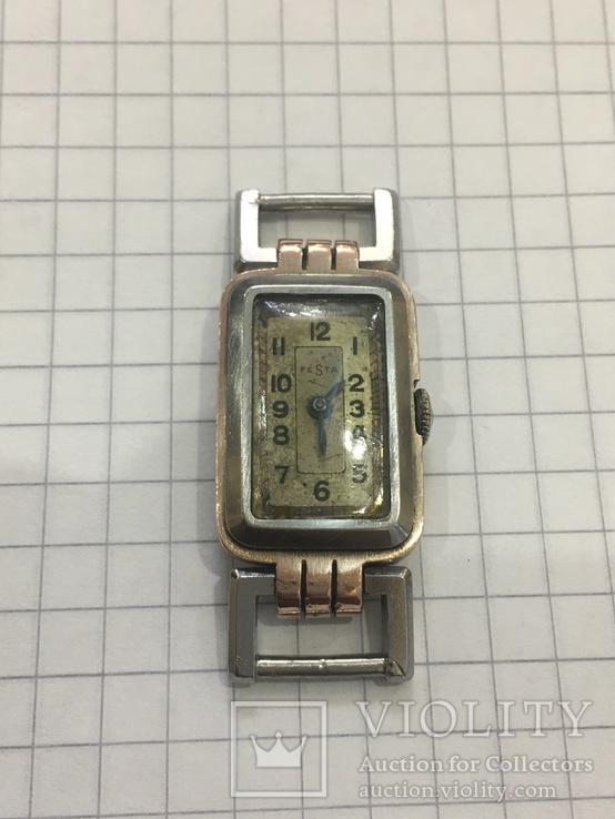 Часы женские Festa с золотой пластиной, фото №2
