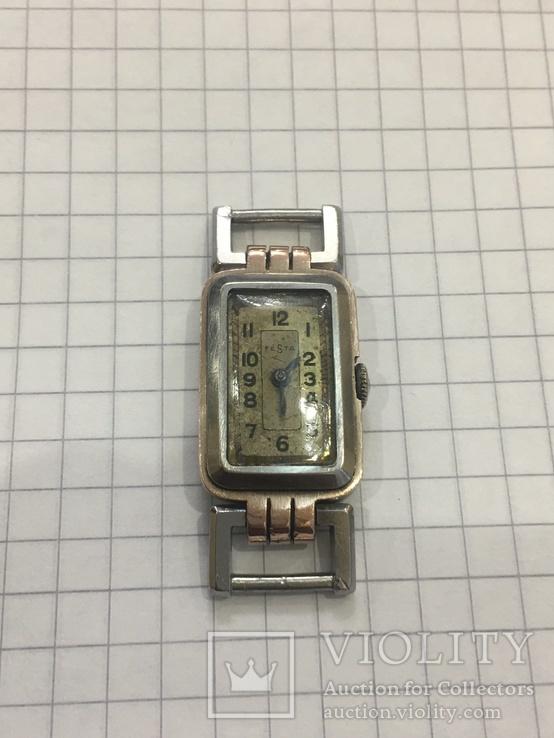 Часы женские Festa с золотой пластиной, фото №3