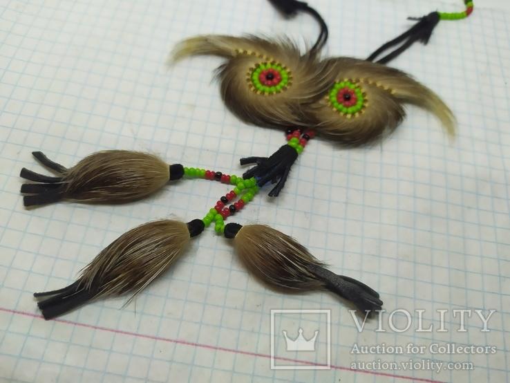 Ожерелье из кожи и меха. Ручная работа народов Севера, фото №3