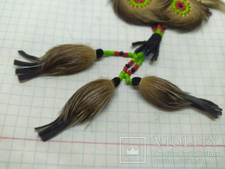 Ожерелье из кожи и меха. Ручная работа народов Севера, фото №5