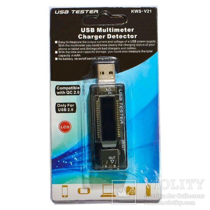 USB тестер KEWEISI KWS-V21 предназначен для измерения параметров USB зарядок, фото №2