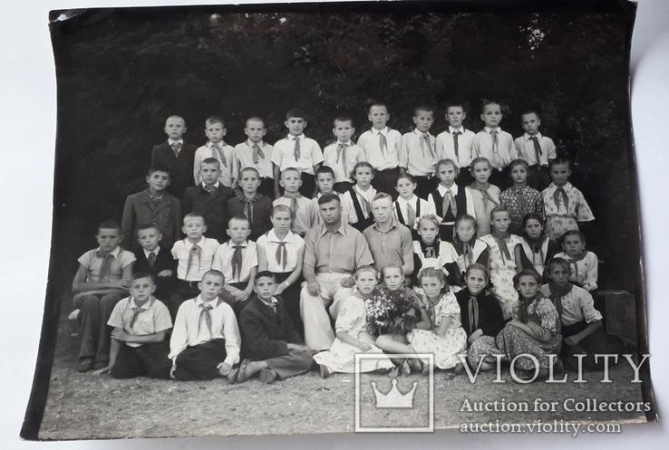 Детская школьная фотография 1950-е годы (24*18), фото №2
