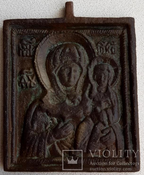 Икона Богоматерь Смоленская, 18 век, литье.