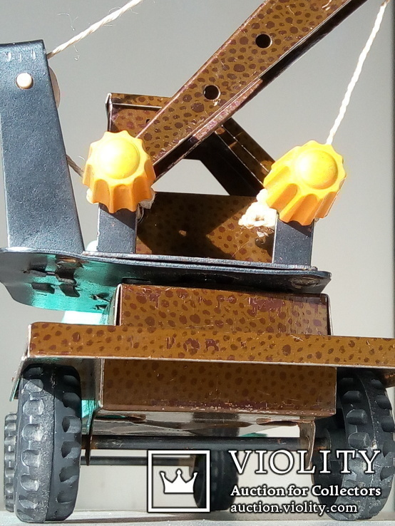 Игрушка автокран ГАЗ 53. 70-80х годов., фото №5