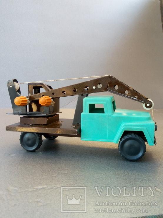 Игрушка автокран ГАЗ 53. 70-80х годов., фото №6