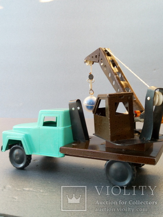 Игрушка автокран ГАЗ 53. 70-80х годов., фото №10