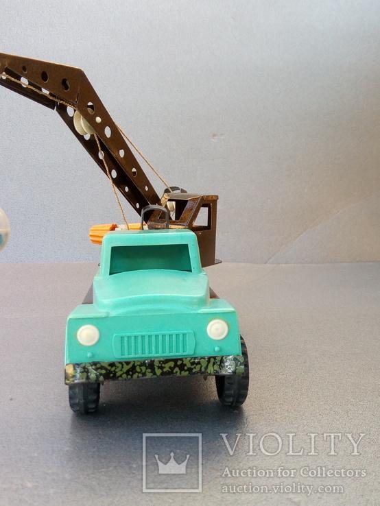 Игрушка автокран ГАЗ 53. 70-80х годов., фото №11