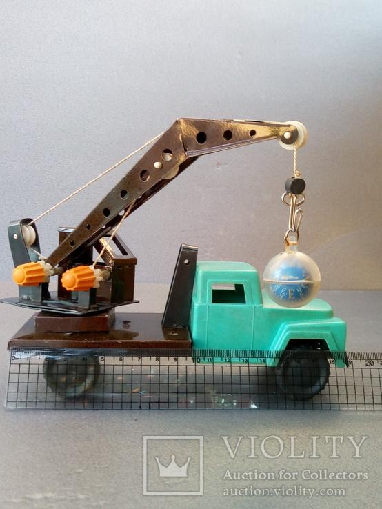 Игрушка автокран ГАЗ 53. 70-80х годов., фото №13
