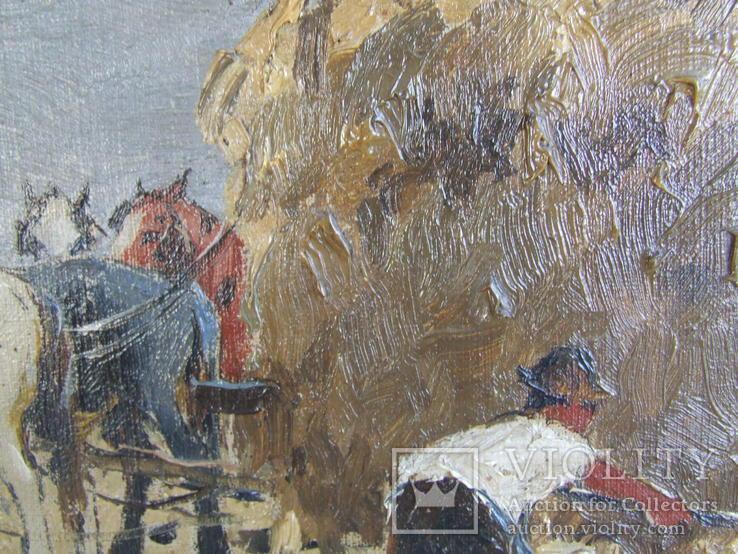 Австро -Венгрия Чиллог Г. х.м. раз. 80 х 60 см. 1900 гг. Закарпатская шк. Ужгород., фото №9
