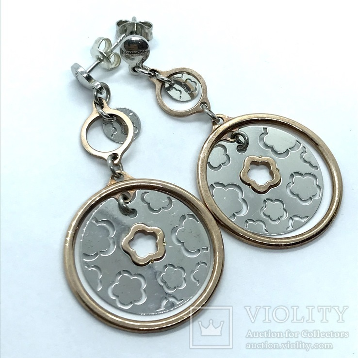 Серьги серебро, фото №2
