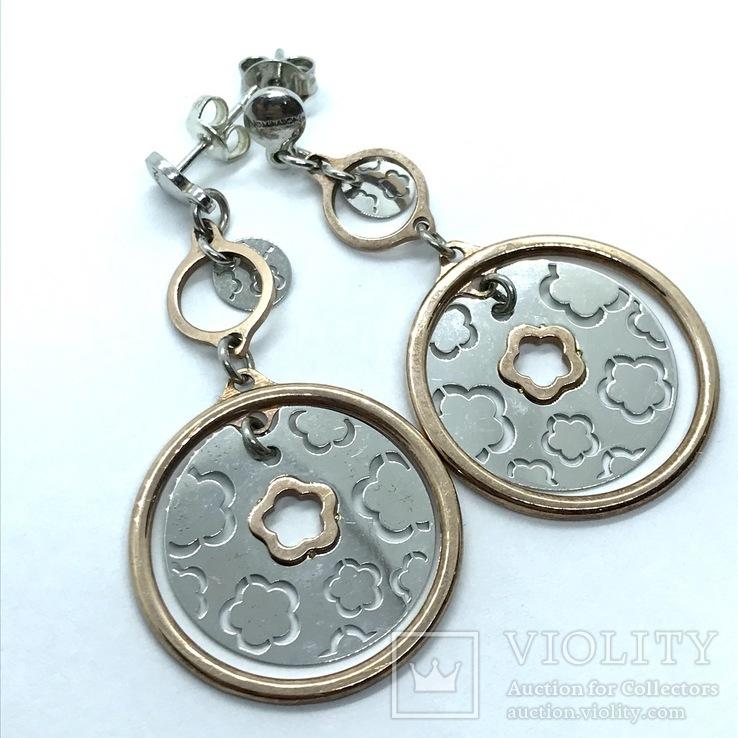 Серьги серебро, фото №3