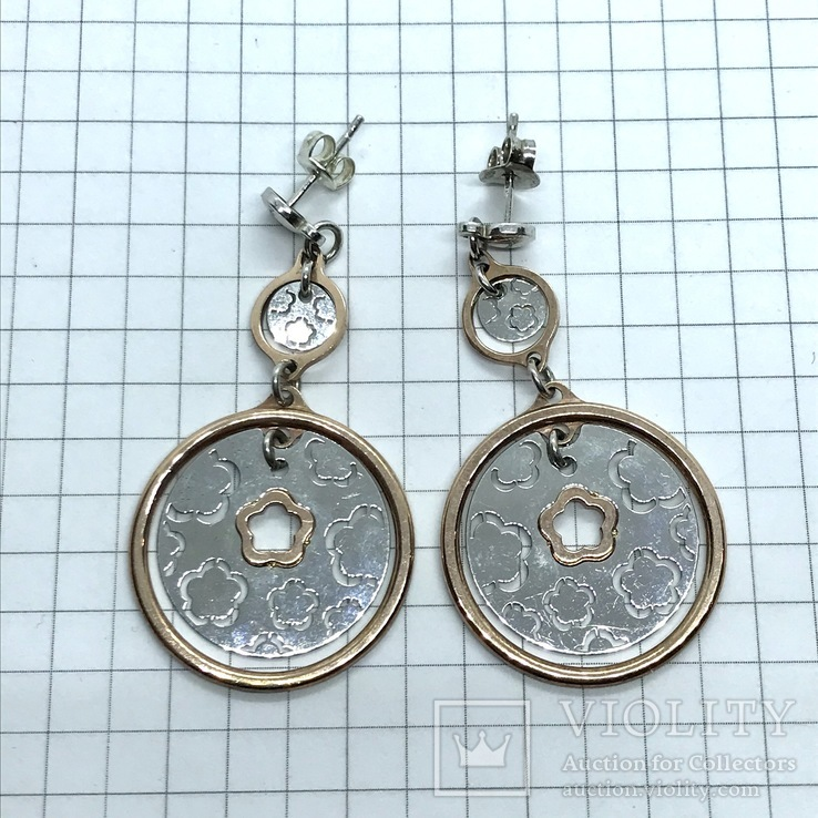 Серьги серебро, фото №4