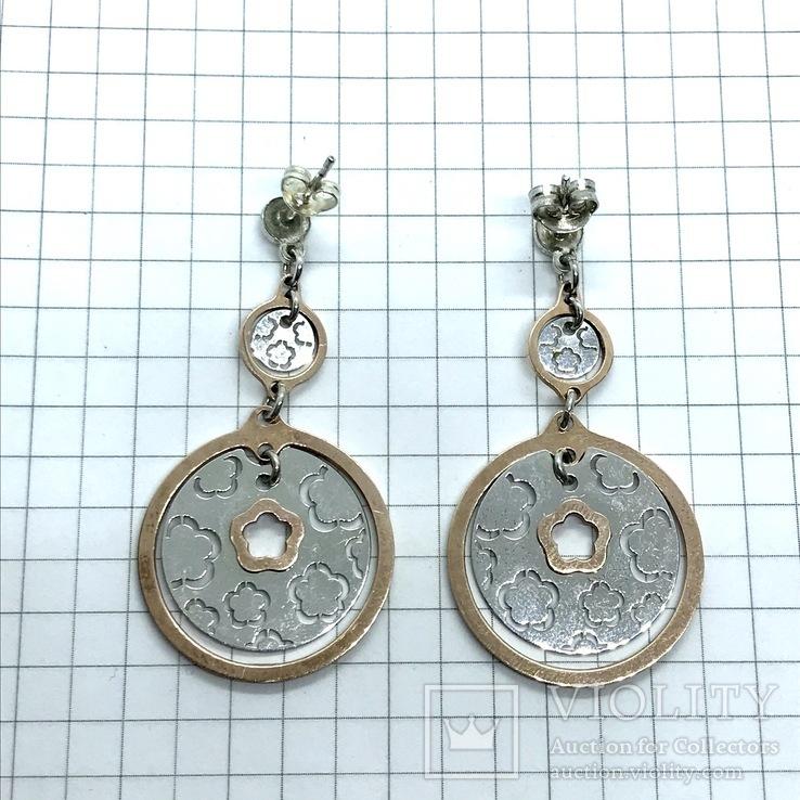 Серьги серебро, фото №5