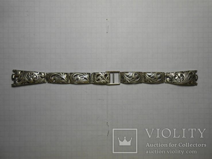 Браслет на часы Серебро 925 Вес - 20,68 грамм, фото №2