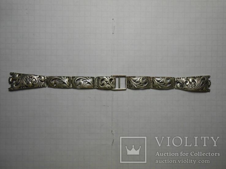 Браслет на часы Серебро 925 Вес - 20,68 грамм, фото №3