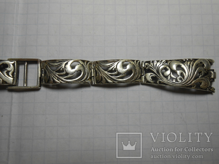 Браслет на часы Серебро 925 Вес - 20,68 грамм, фото №5