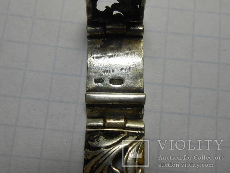 Браслет на часы Серебро 925 Вес - 20,68 грамм, фото №10