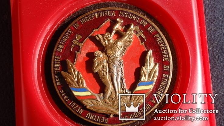"""Памятная медаль """"От пожарных Румынии"""", фото №4"""
