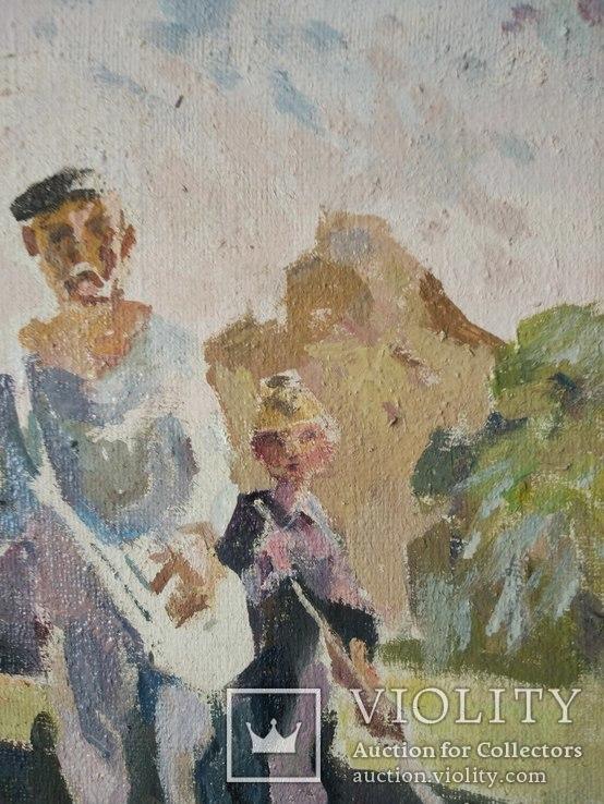 "В.Кнышевский ""Сеют"", х.м.46*40см, 1978г, фото №8"