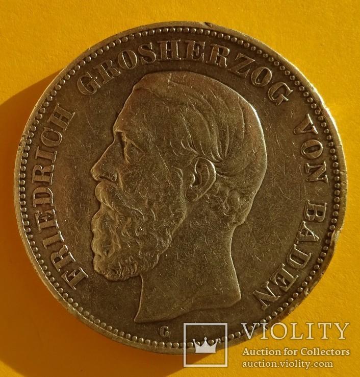 5 марок, Баден, 1893 год., фото №3