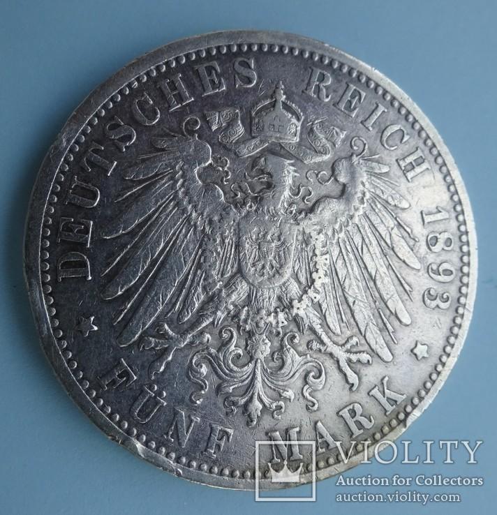 5 марок, Баден, 1893 год., фото №5
