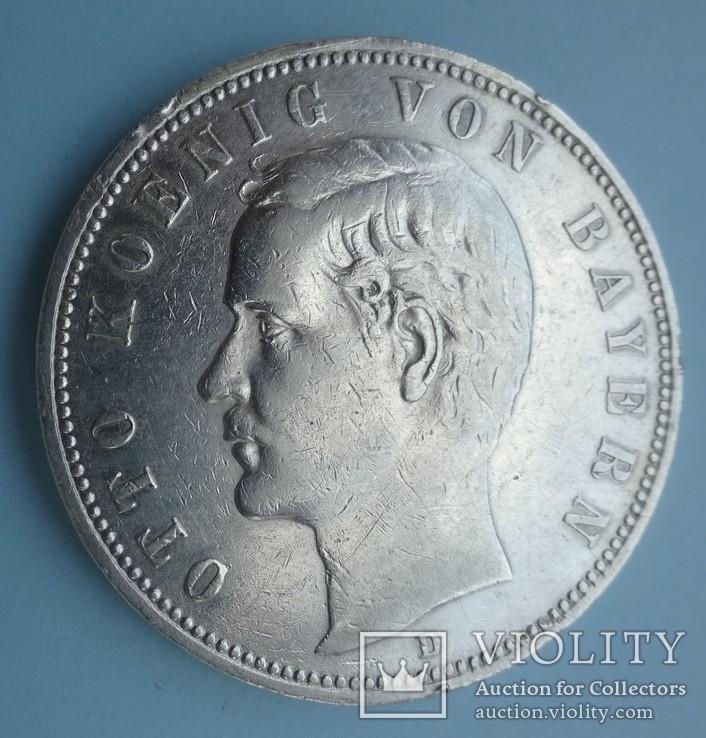5 марок, Бавария, 1906 год,, фото №3