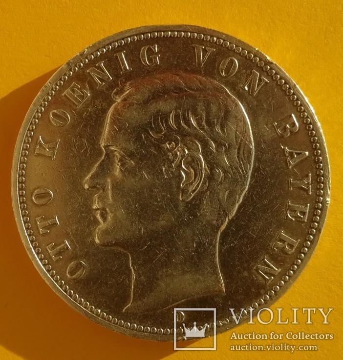 5 марок, Бавария, 1906 год,, фото №4