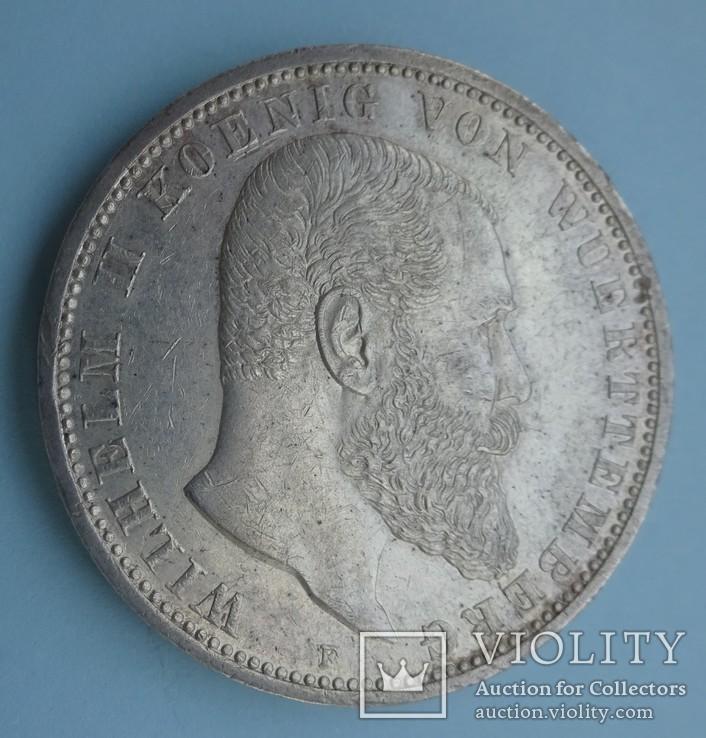 5 марок, 1913 год, Вюртемберг,, фото №2