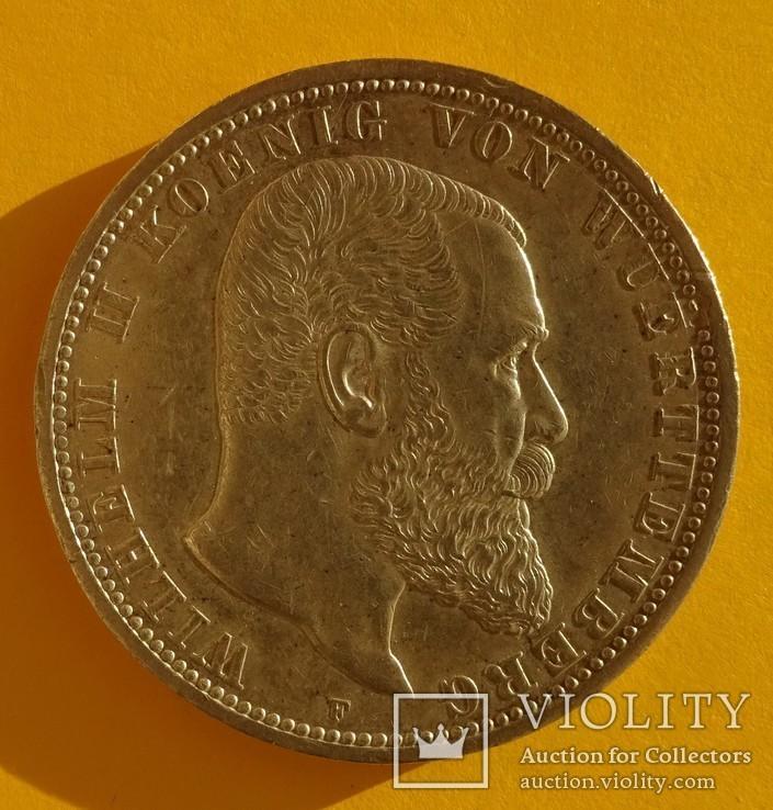 5 марок, 1913 год, Вюртемберг,, фото №3