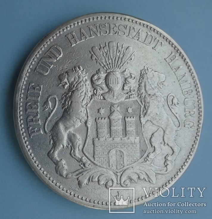 5 марок, 1894 год, Гамбург,, фото №3