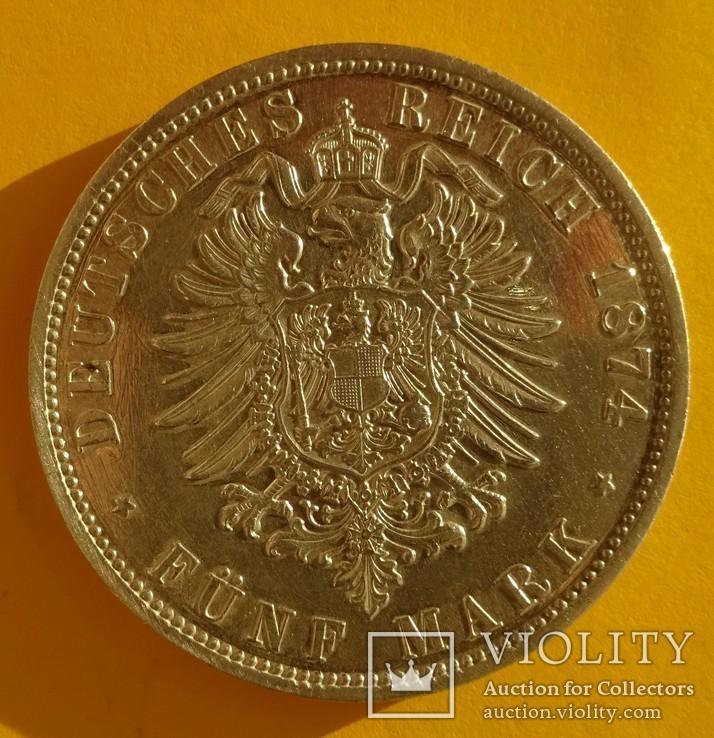 5 марок, Пруссия, 1874 год., фото №5