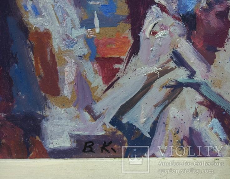 """В.Кнышевский """"Строительство АЭС"""", орг.м.51*68см, 1979г, фото №4"""