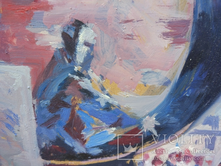 """В.Кнышевский """"Строительство АЭС"""", орг.м.51*68см, 1979г, фото №7"""
