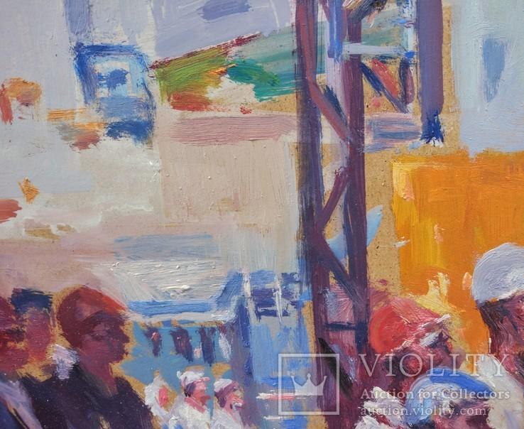 """В.Кнышевский """"Строительство АЭС"""", орг.м.51*68см, 1979г, фото №10"""