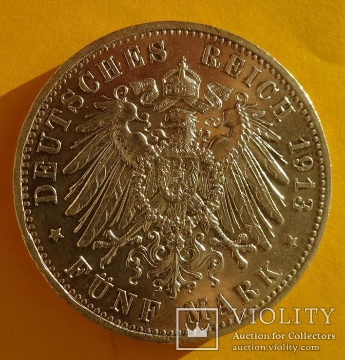 5 марок, Пруссия, 1913 год,, фото №4