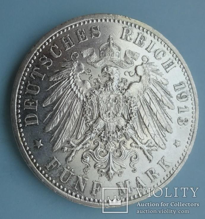 5 марок, Пруссия, 1913 год,, фото №5
