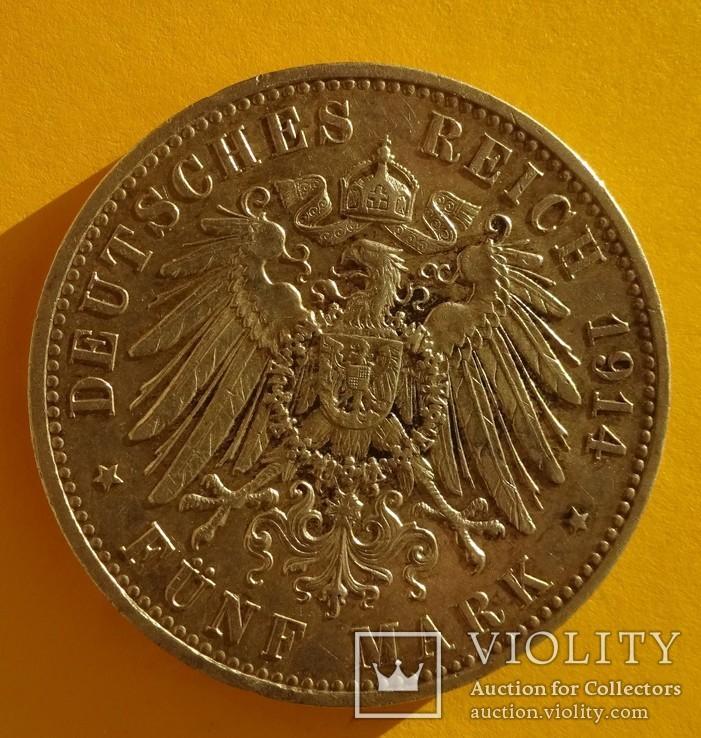 5 марок, Пруссия, 1914 год., фото №5