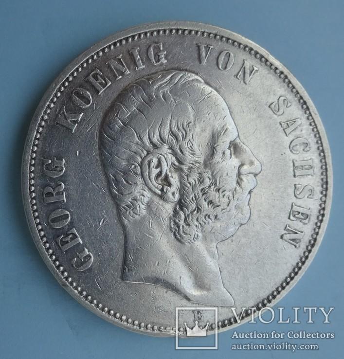 5 марок, 1903 год, Саксония,, фото №3