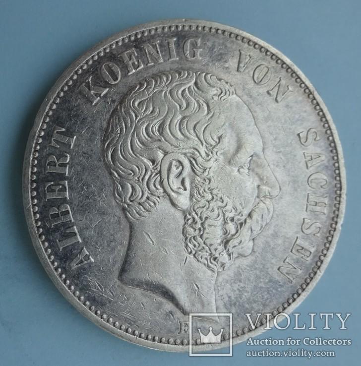 5 марок, 1901 год, Саксония., фото №3