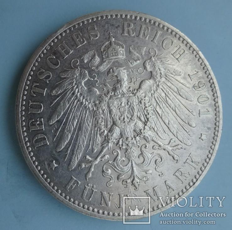 5 марок, 1901 год, Саксония., фото №6