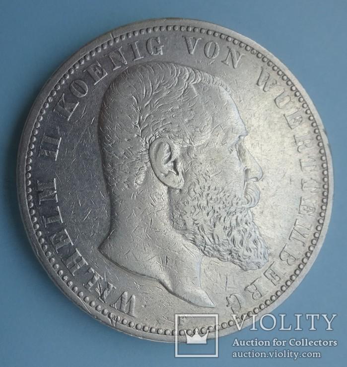 5 марок, 1892 год, Вюртемберг,, фото №2