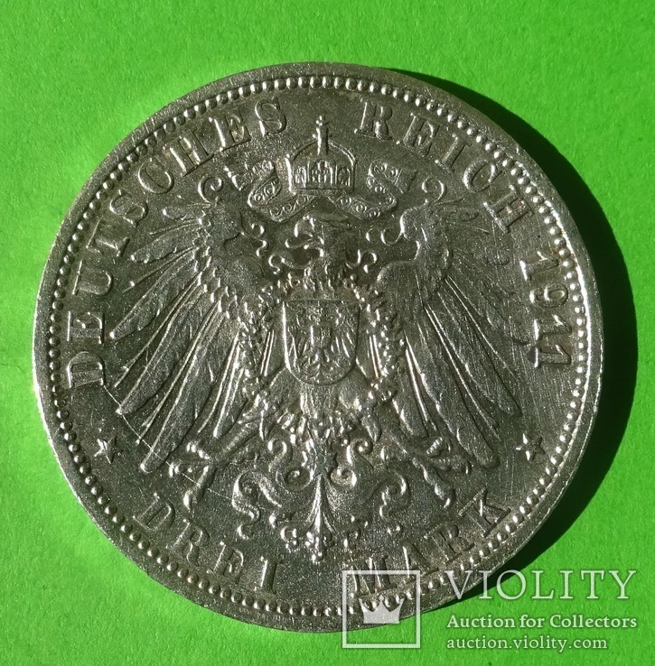 3 марки, Вюртембург,, фото №3