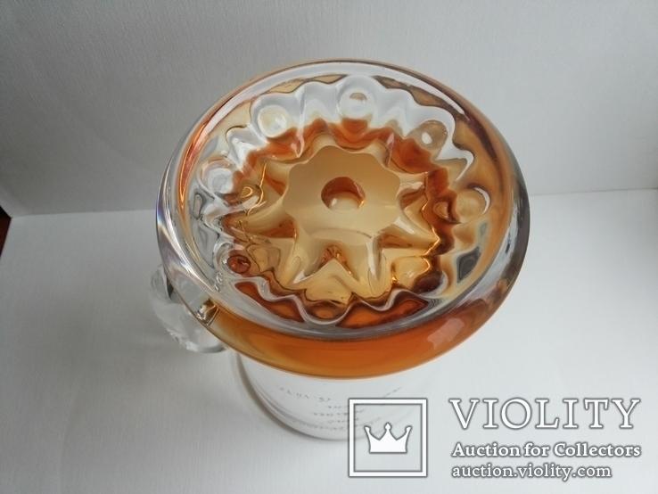 Пивная кружка массивная чешское цветное стекло, фото №9